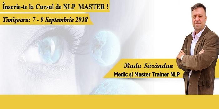 Curs NLP Master – Timișoara: 7 – 9 septembrie 2018